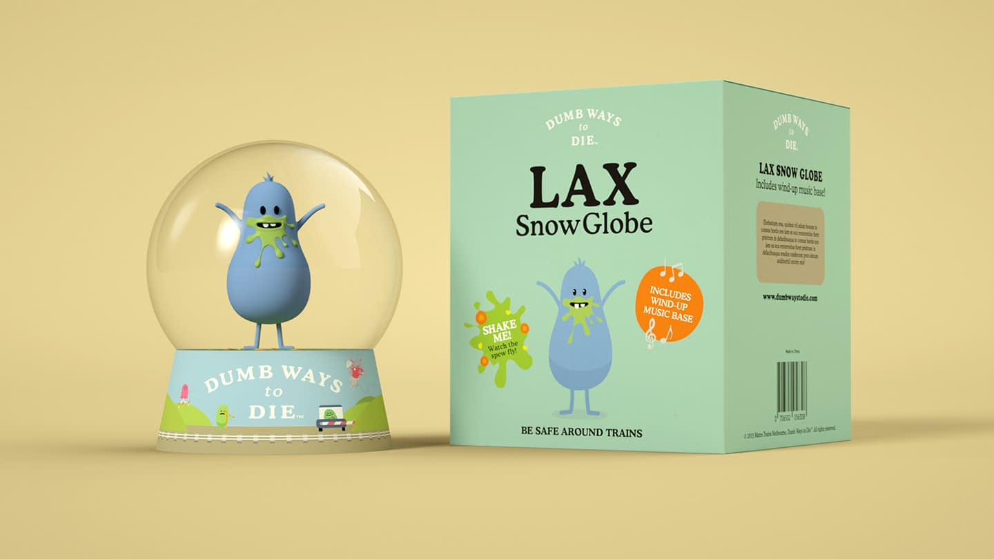 Lax snow dome packaging