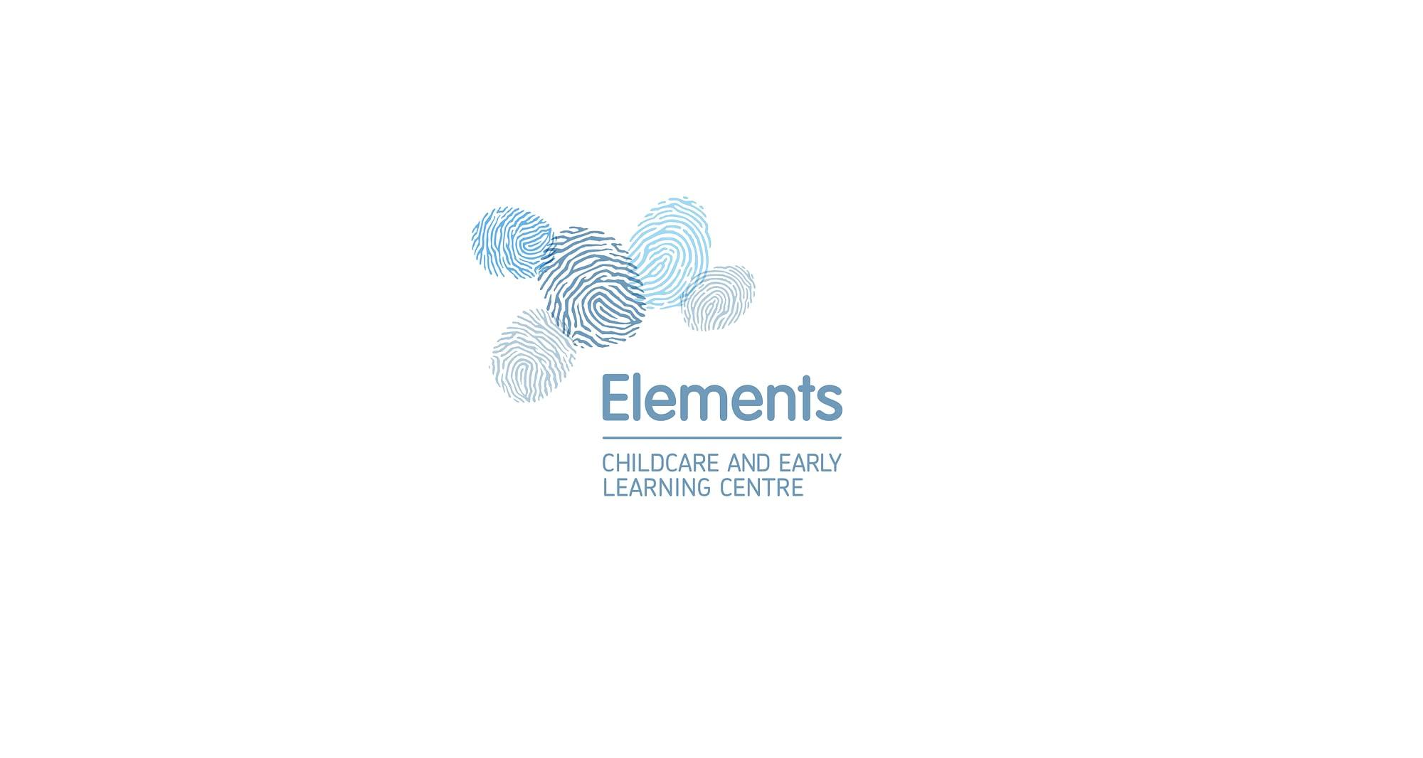 Elements brandmark blue