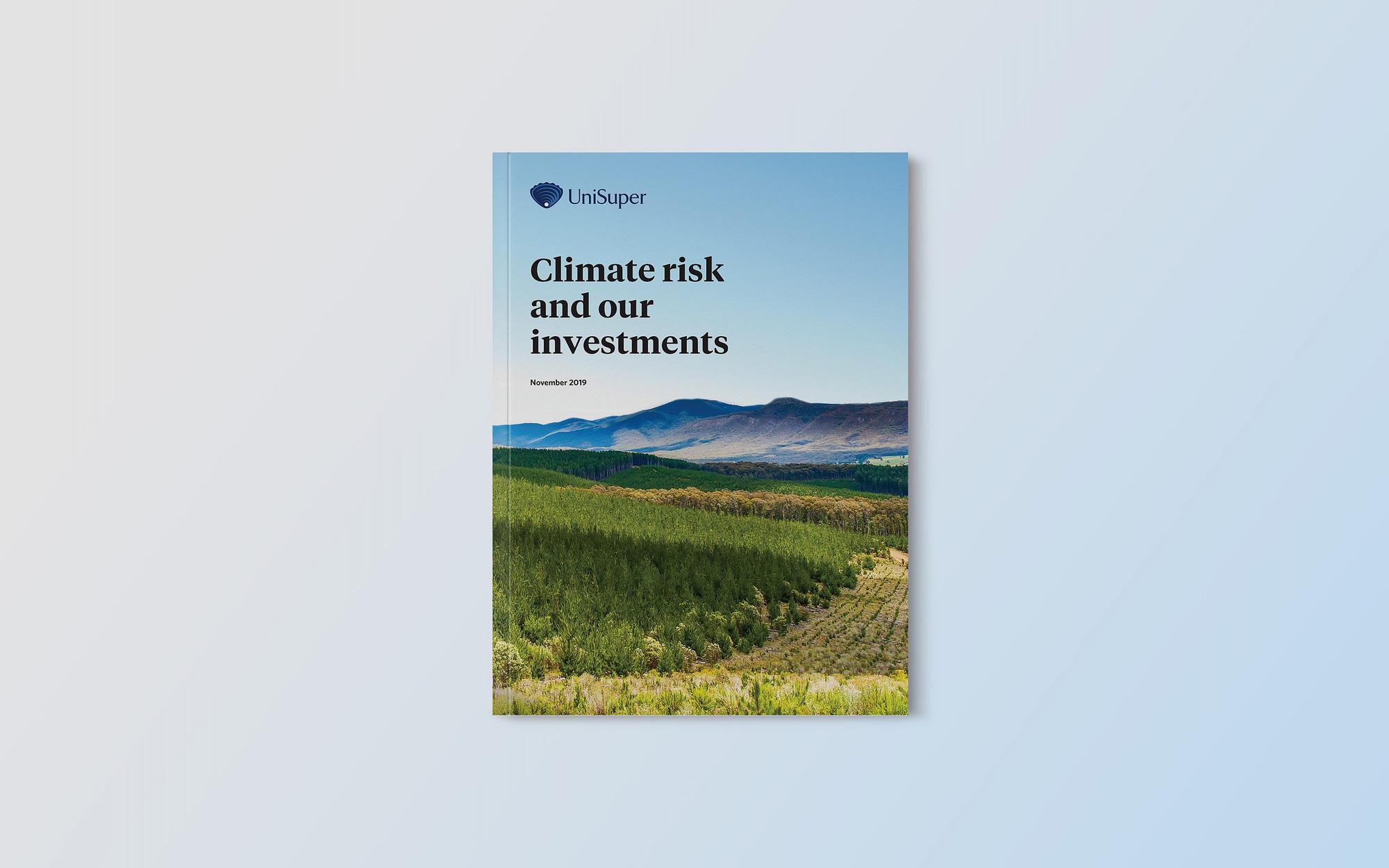 Unisuper Climate Risk report cover