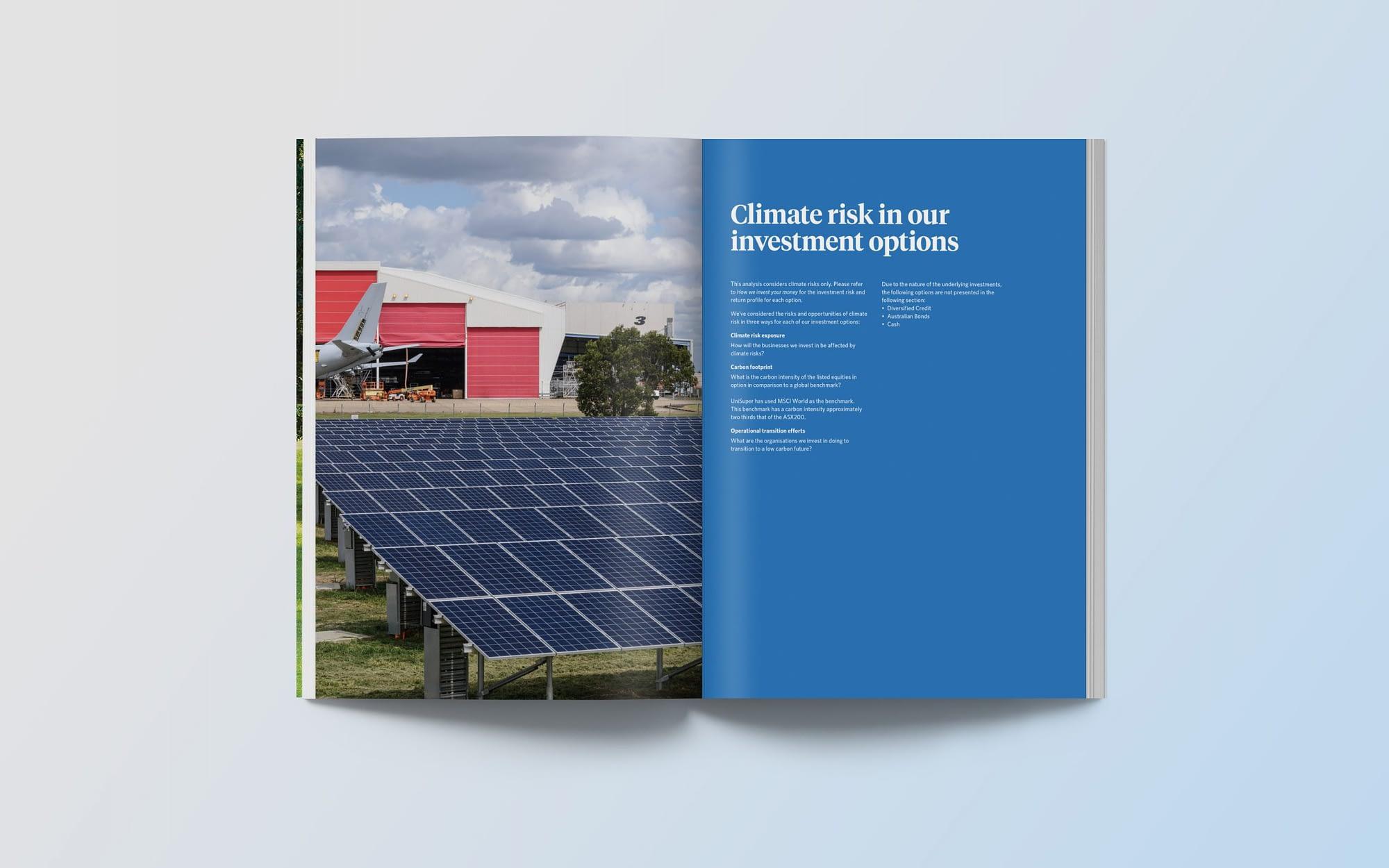 Unisuper Climate Risk report spread