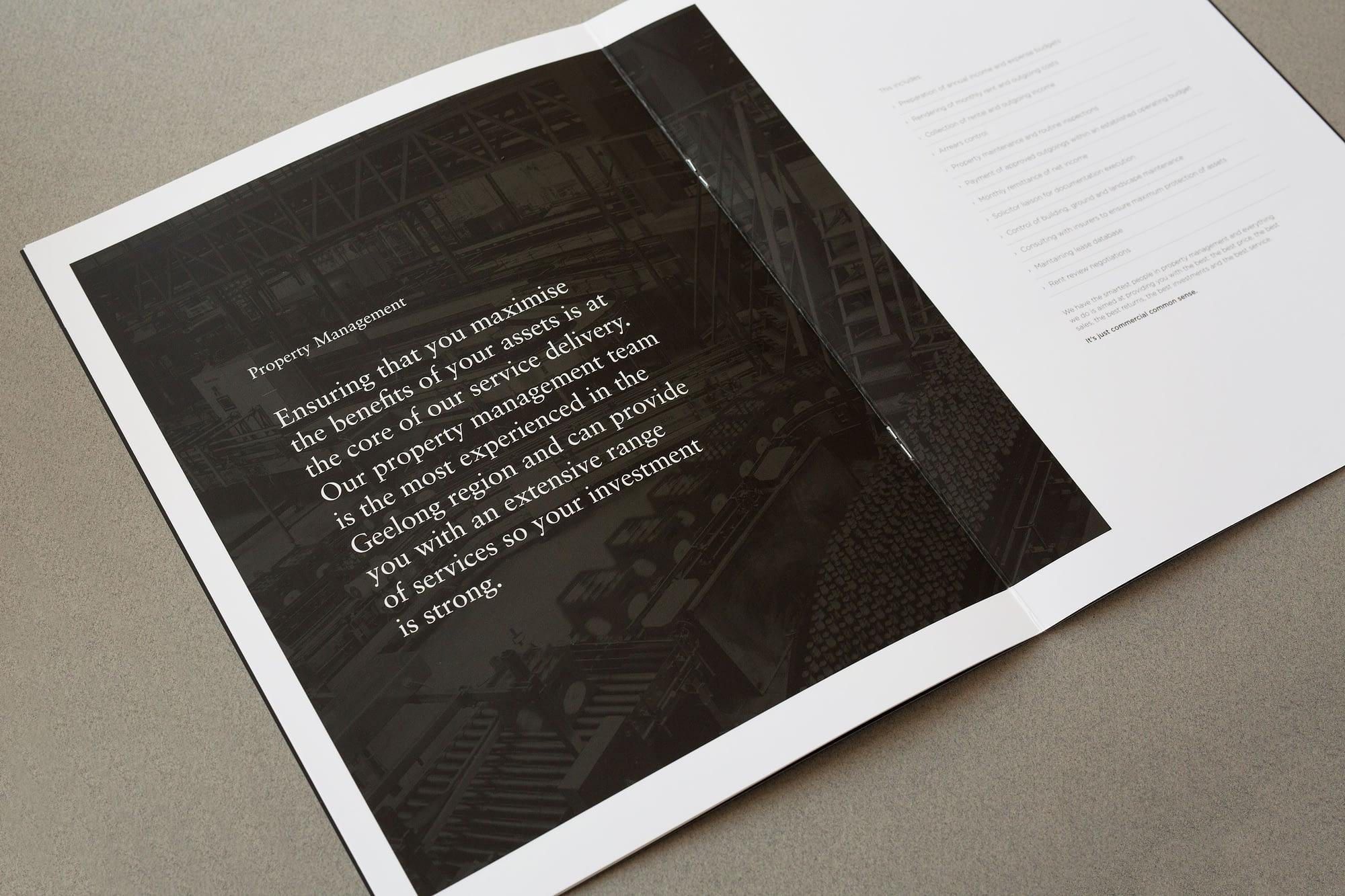 Gartland Commercial brochure spread