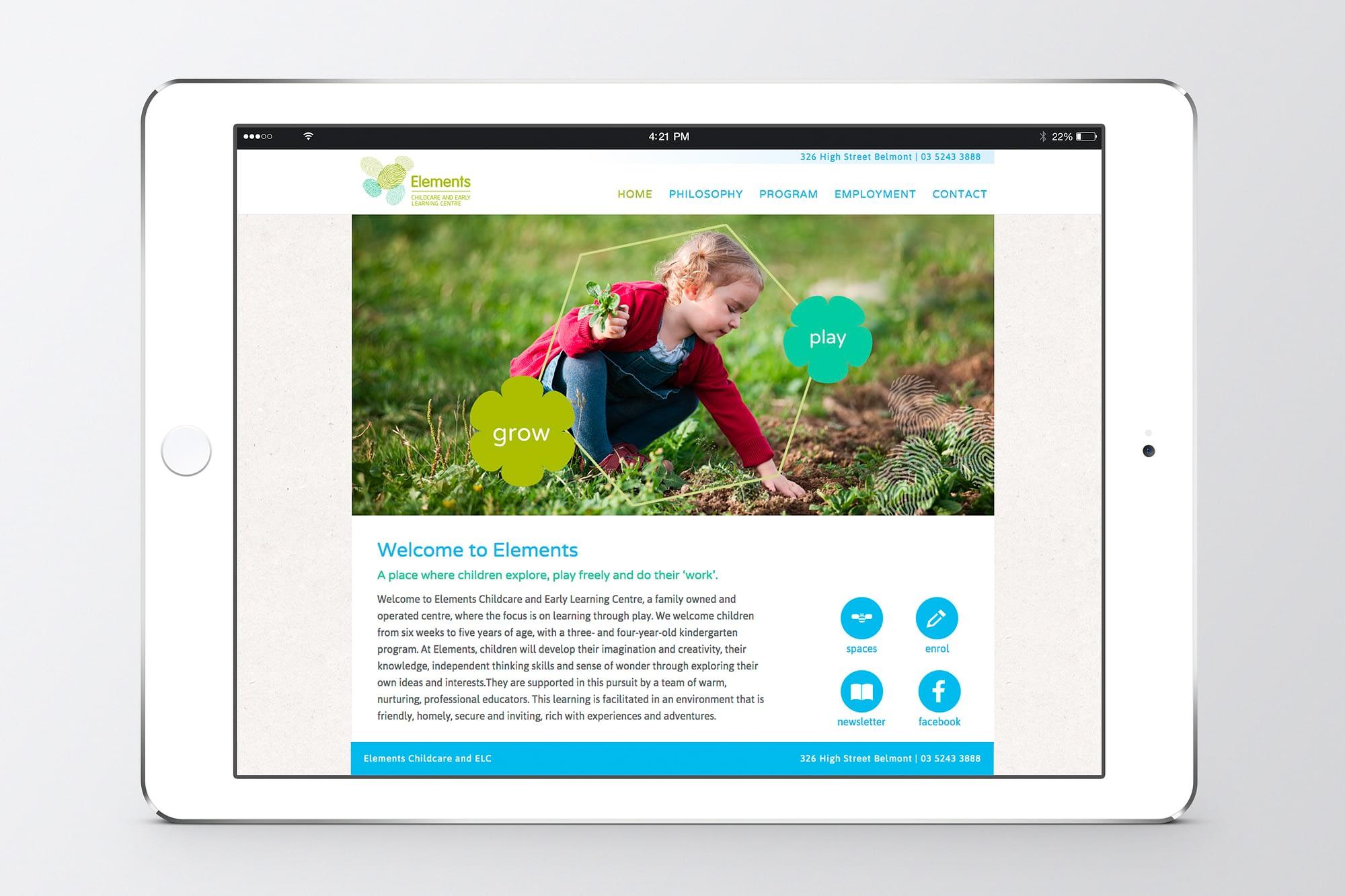 Elements website