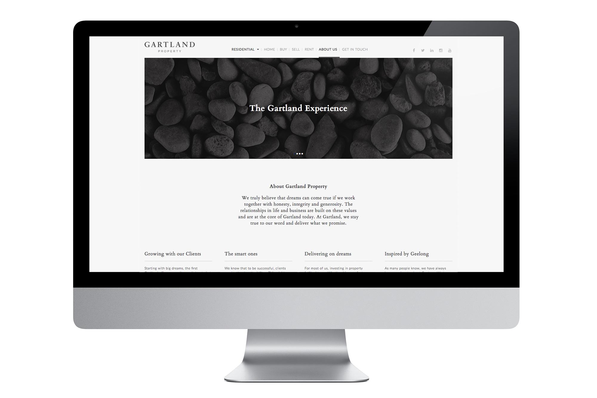 Gartland website About page
