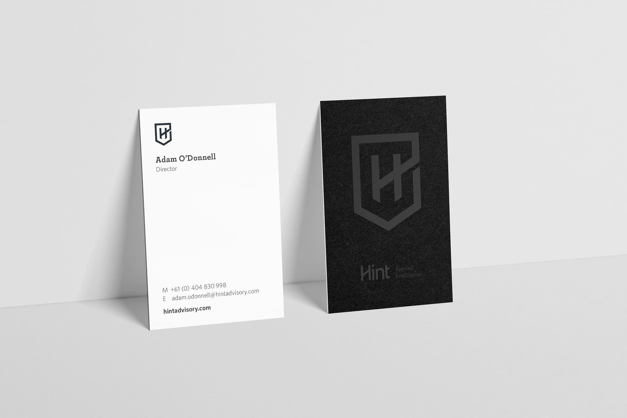 Hint business cards