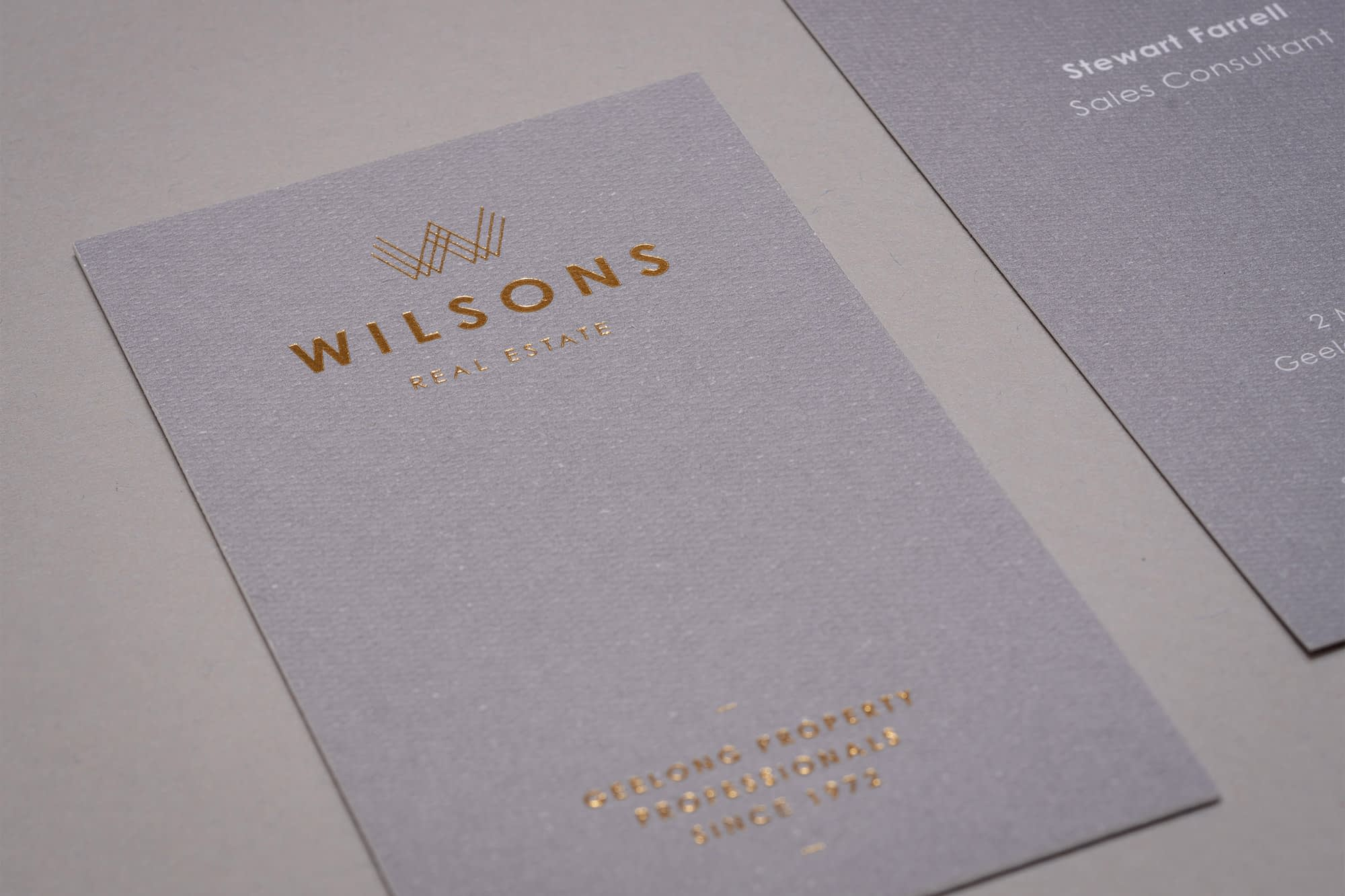 Wilsons Real Estate business card