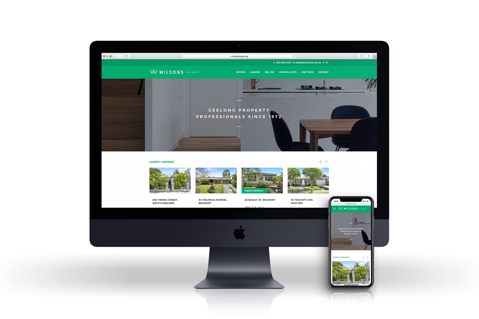 Wilsons Real Estate website